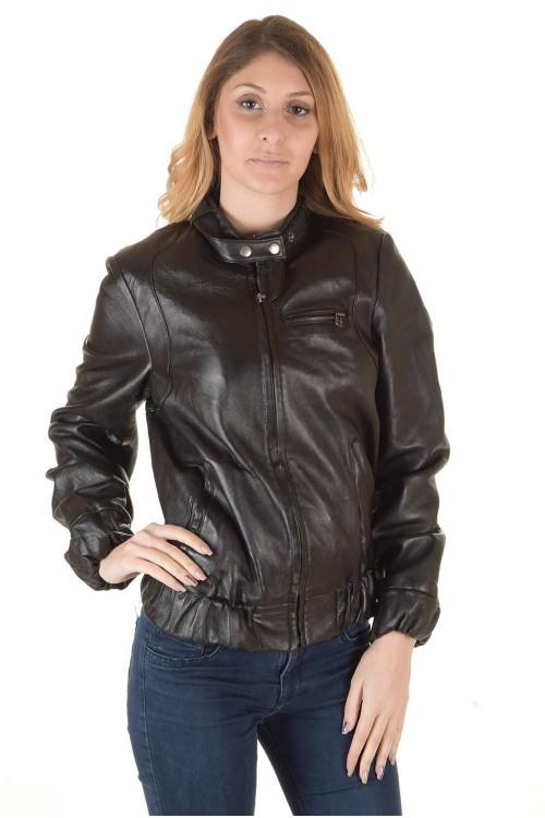 Темно-коричневая кожаная куртка 64.00
