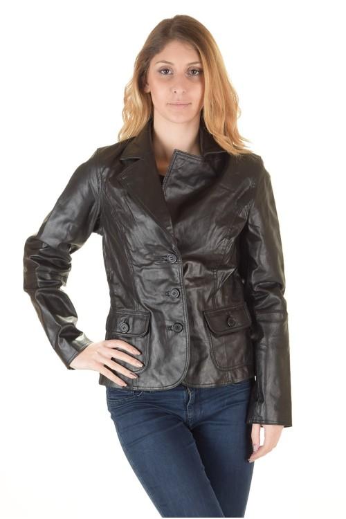 Първокласно дамско кожено сако 64.00