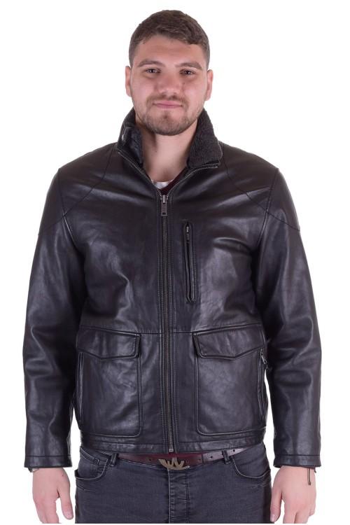 Брандово мъжко кожено яке 350.00