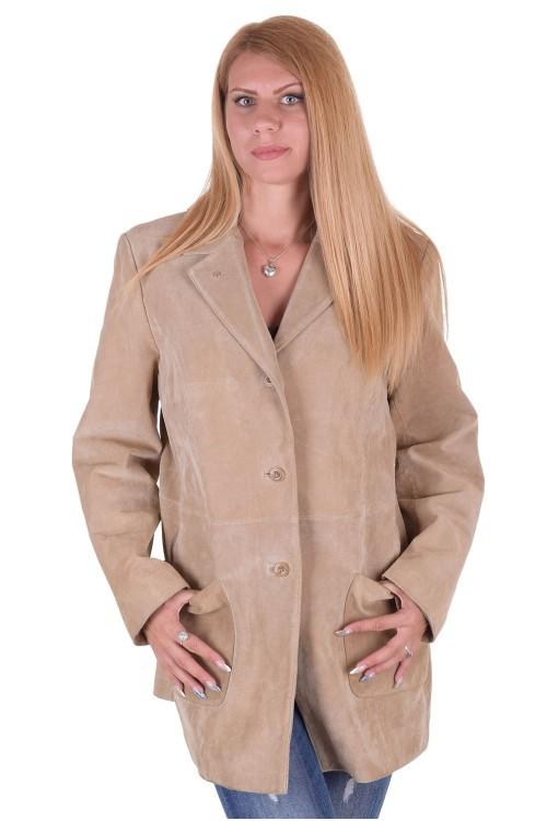 Велурено яке от естествена кожа 59.00
