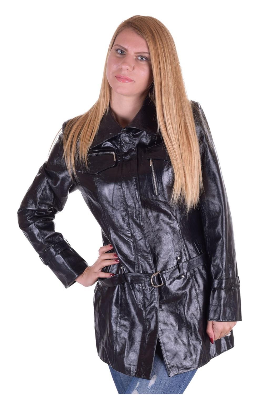 ca659722f84 Της μόδας γυναικεία δερμάτινη καμπαρντίνα | furlando - leather and fur.
