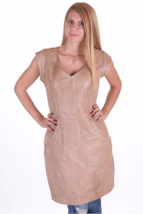 Чудесна дамска кожена рокля 66.00