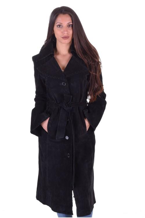 Велурен шлифер от естествена кожа 64.00