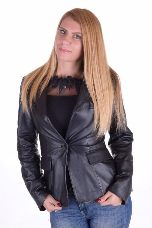 Чудесно дамско кожено сако 64.00