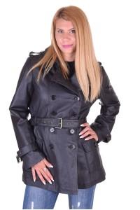 Дамски кожен шлифер