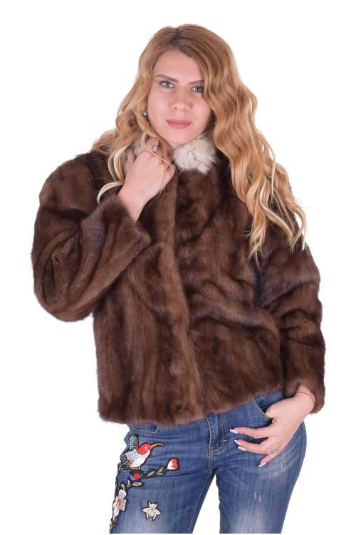 Красиво дамско палто от естествен косъм 389.00