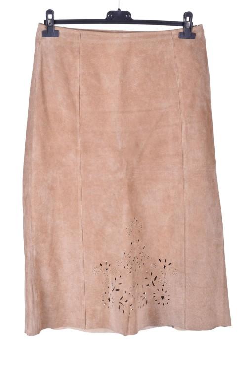 Елегантна дамска велурена пола от естествена кожа 15.00