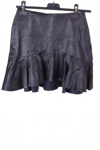 Черна дамска пола от изкуствена кожа