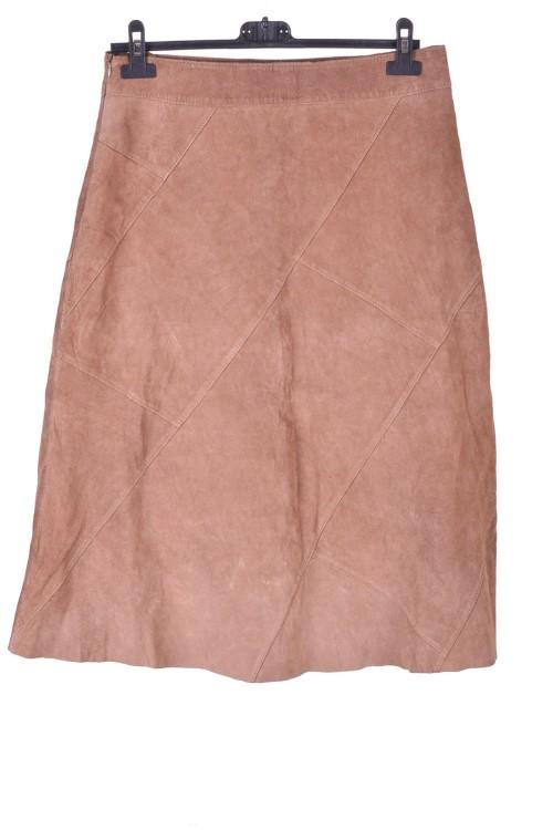 Бежова велурена пола от естествена кожа 15.00