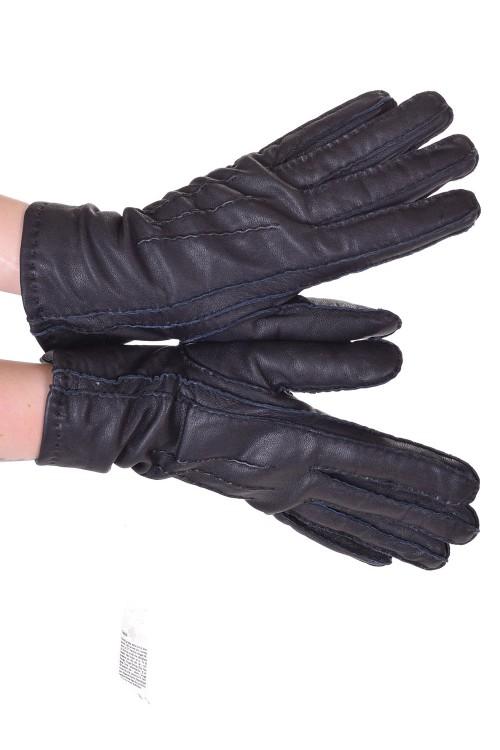 Черни дамски кожени ръкавици 20.00