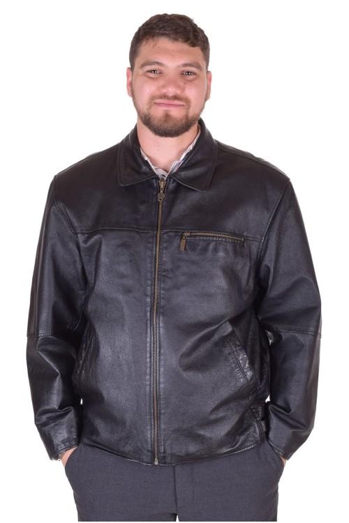 Черно мъжко кожено яке 79.00