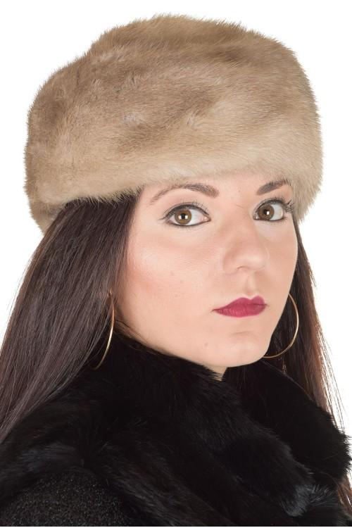 Сива дамска шапка от норка 29.00