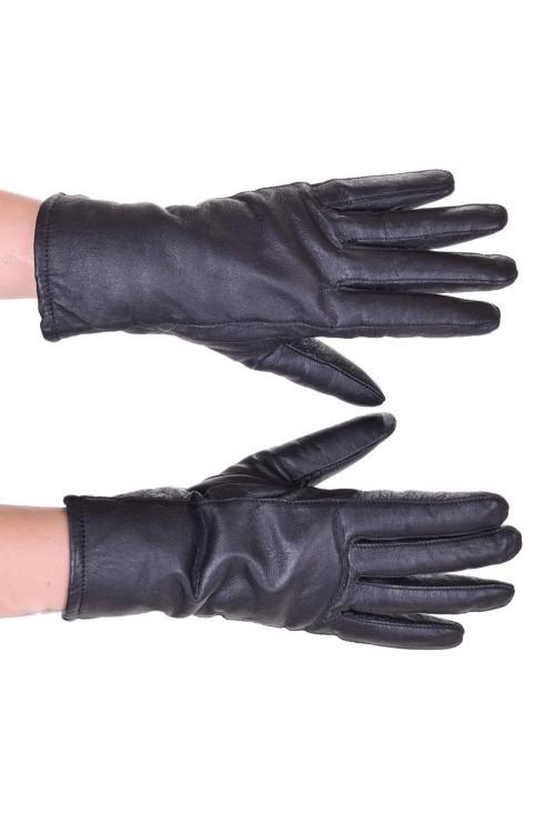 Черни дамски кожени ръкавици 18.00