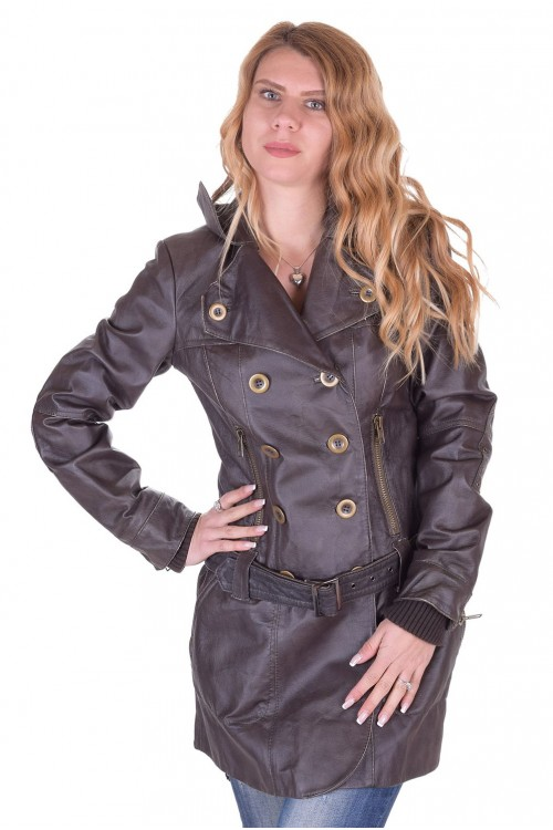 Представителен дамски кожен шлифер 79.00
