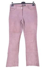 Велурен панталон от естествена кожа