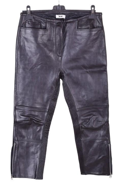 Черен дамски кожен панталон 28.00