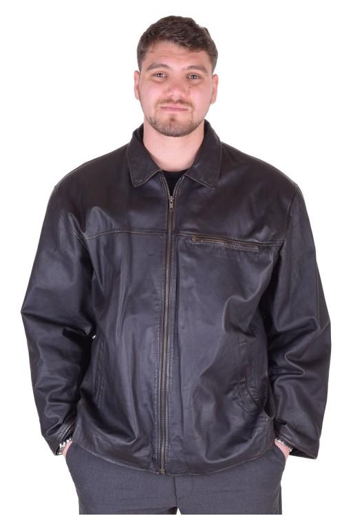 Черно винтидж яке от естествена кожа 89.00