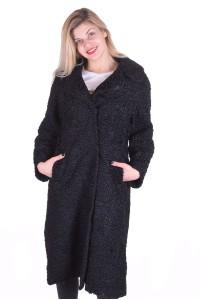 Дамско дълго палто от естествен косъм