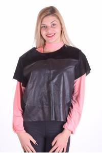 Модна блуза от естествена кожа