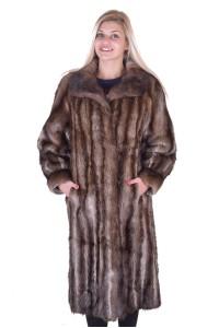 Стилно дамско палто от ондатра