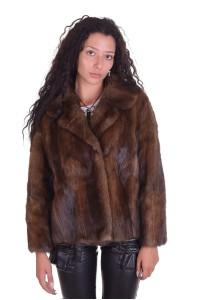 Модно палто от ондатра