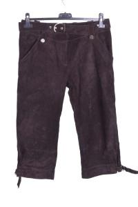 Дамски панталон от велурена кожа