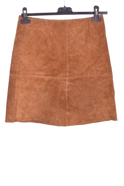Светло кафява велурена пола от естествена кожа 15.00