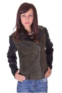 Велурено яке от естествена кожа