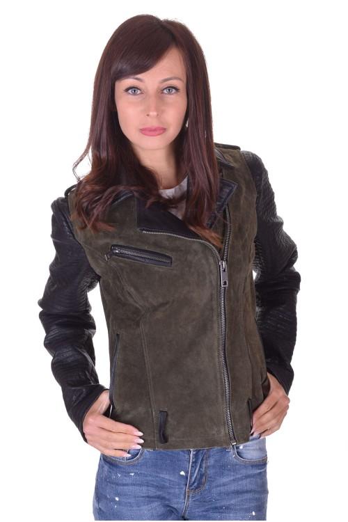 Велурено яке от естествена кожа 64.00