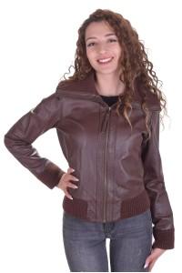Стилно дамско яке от естествена кожа