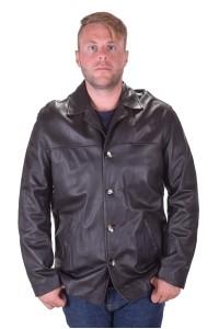 Великолепно черно мъжко кожено яке