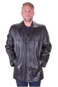 Чудесно черно кожено яке от естествена кожа