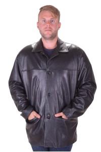 Класическо черно кожено яке