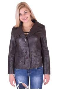 Модерно дамско кожено яке