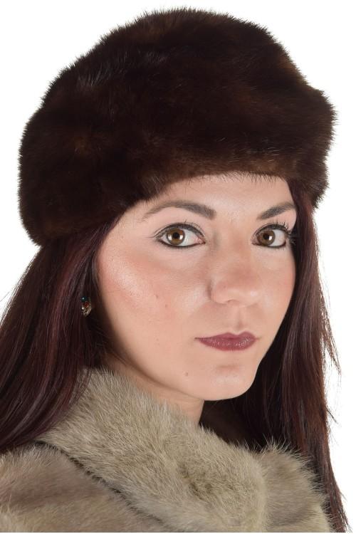 Чудесна дамска шапка от естествен косъм 29.00