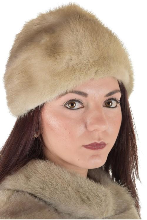 Сива дамска шапка от естествен косъм 29.00