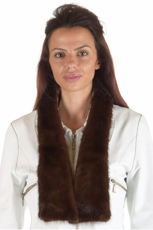 Класическа дамска яка от естествен косъм 29.00