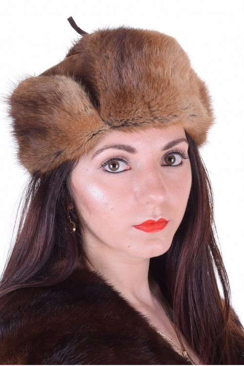 Отлична дамска шапка от ондатра 29.00
