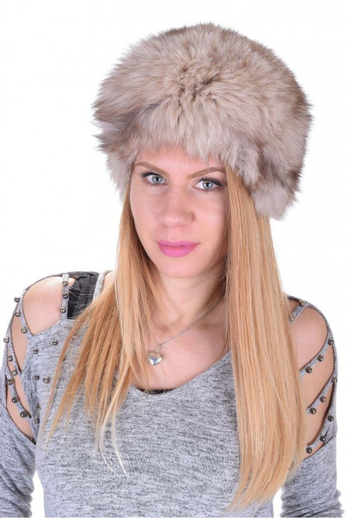 Дамска шапка от естествен косъм 39.00