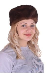 Изысканная шапка из норки