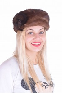Изискана дамска шапка от естествен косъм