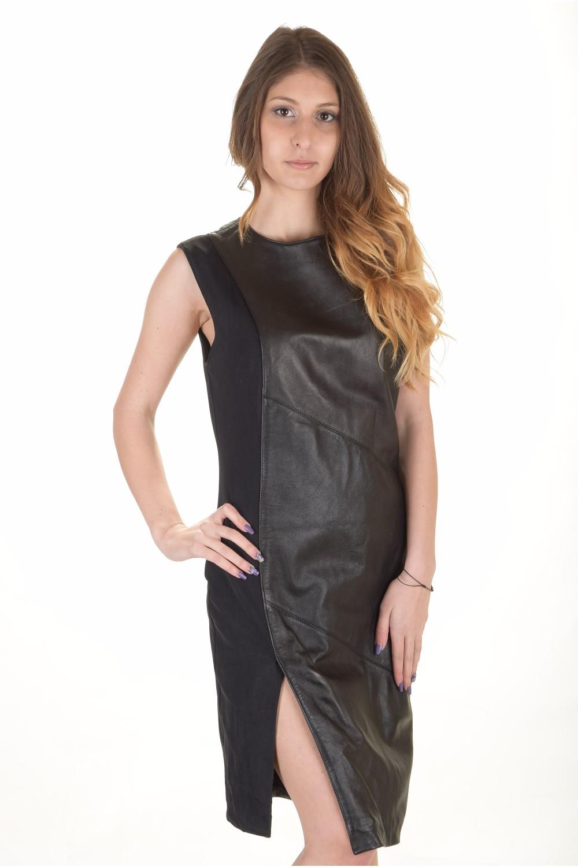 4254904d3d2a Επώνυμο γυναικείο δερμάτινο φόρεμα   furlando - leather and fur.