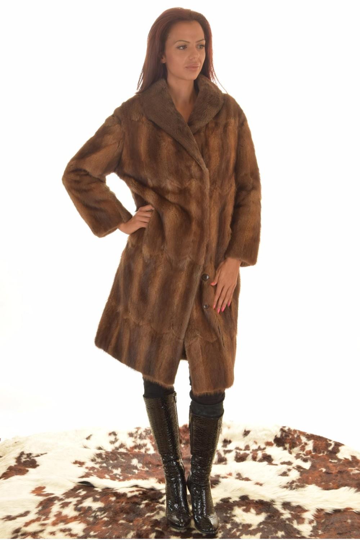And Mantel Leather Fur BisamratteFurlando Damen Für Aus zqUVMpS