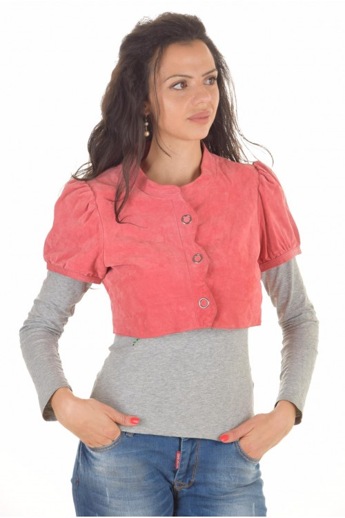 Късо дамскo якенце от естествена кожа 42.90