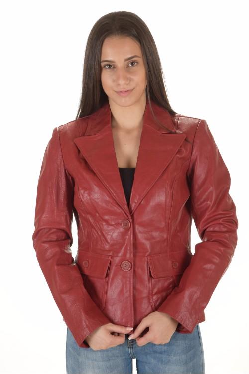 Отлично дамско кожено сако 75.00