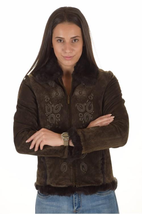 Велурено яке от естествена кожа 49.00